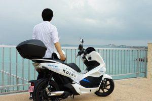 宮古 バイクでIOT